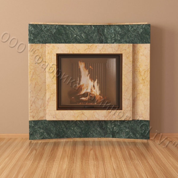 Мраморный каминный портал (облицовка) Даллас, каталог (интернет-магазин) каминов из мрамора, изображение, фото 7