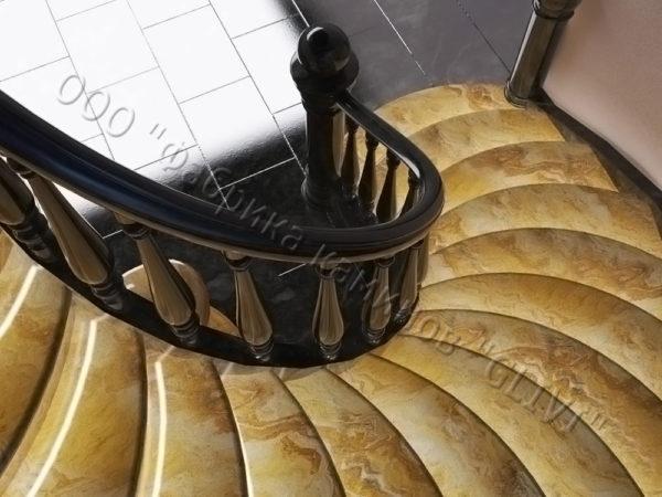 Лестница из оникса Данио, каталог лестниц из камня, изображение, фото 2