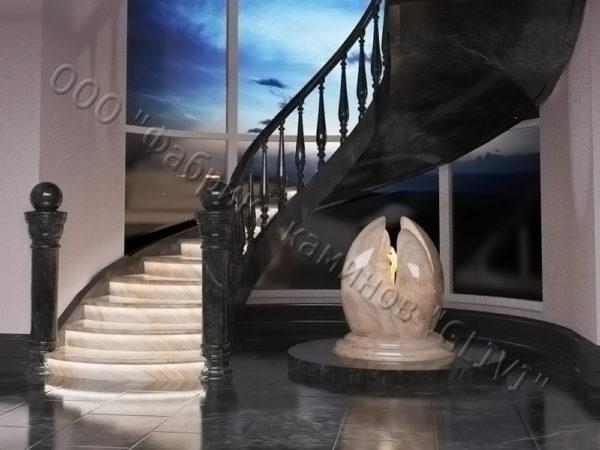 Лестница из оникса Данио, каталог лестниц из камня, изображение, фото 4