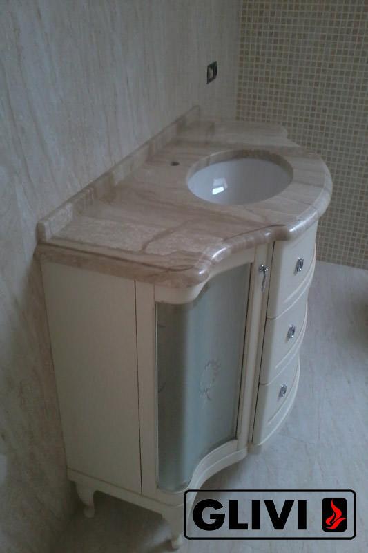 Столешница из натурального камня (мрамора) Демре, изготовить на заказ, изображение, фото 2