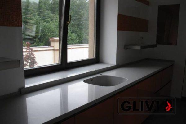 Столешница из искусственного (кварцевого) камня Дерби, изготовить на заказ, изображение, фото 1