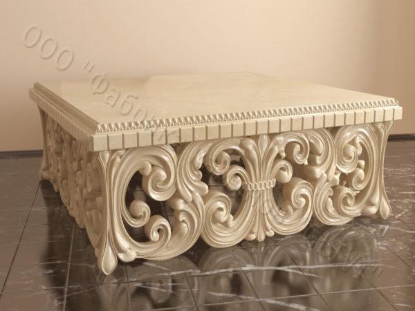 Стол из натурального камня (мрамора) Диана, интернет-магазин столов, изображение, фото 1