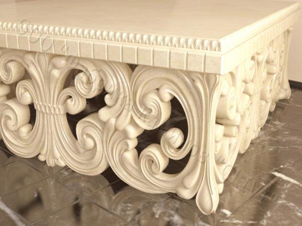 Стол из натурального камня (мрамора) Диана, интернет-магазин столов, изображение, фото 2