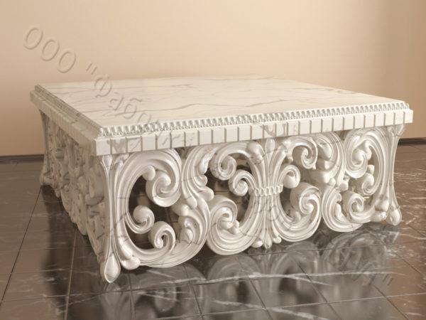 Стол из натурального камня (мрамора) Диана, интернет-магазин столов, изображение, фото 3