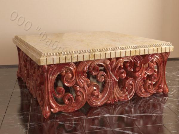 Стол из натурального камня (мрамора) Диана, интернет-магазин столов, изображение, фото 5