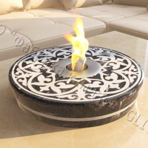 Мраморная облицовка (каминный портал) для камина на биотопливе Дия, каталог (интернет-магазин) каминов из мрамора, изображение, фото 1