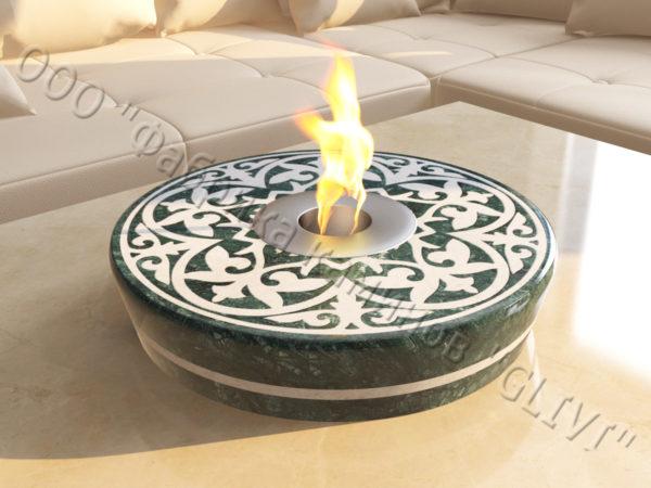 Мраморная облицовка (каминный портал) для камина на биотопливе Дия, каталог (интернет-магазин) каминов из мрамора, изображение, фото 3