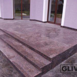 Лестничные ступени из натурального камня (гранита) Ширли, фото 1