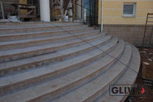 Лестничные ступени из натурального камня (гранита) Флор, фото 5