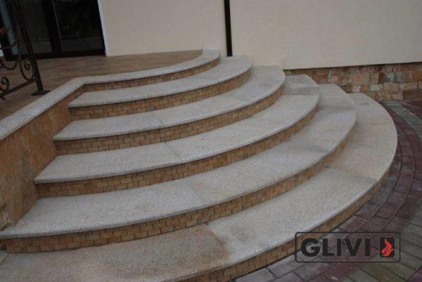 Лестничные ступени из натурального камня (гранита) Флор, фото 1