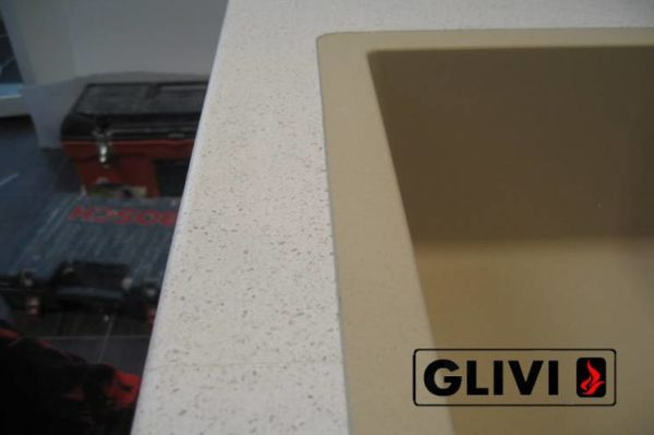 Столешница из искусственного (кварцевого) камня Дувр, изготовить на заказ, изображение, фото 3