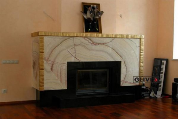 Камин по индивидуальному проекту Элегия, каталог (интернет-магазин) каминов из мрамора, изображение, фото 1