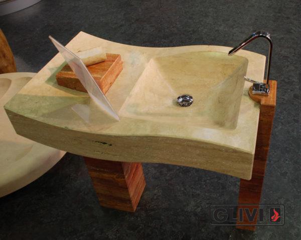 Мраморная раковина (умывальник) Элен, каталог раковин из камня, изображение, фото 1