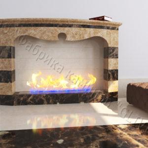 Напольный каминный портал (облицовка) для биокамина Эола, каталог (интернет-магазин) каминов, изображение, фото 1