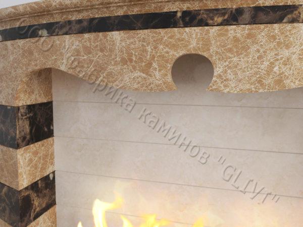 Напольный каминный портал (облицовка) для биокамина Эола, каталог (интернет-магазин) каминов, изображение, фото 3