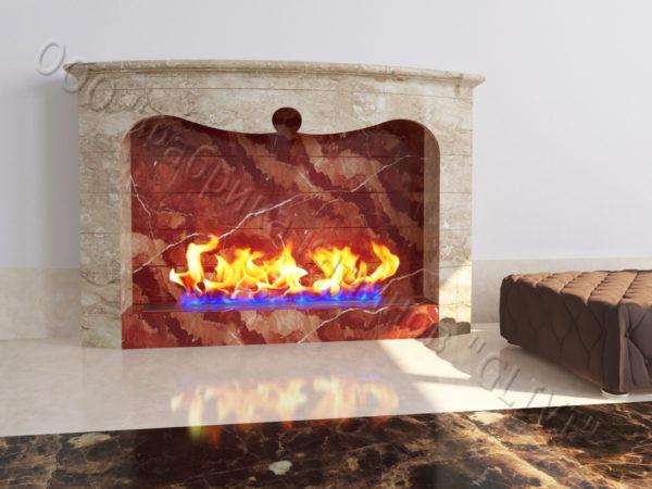 Напольный каминный портал (облицовка) для биокамина Эола, каталог (интернет-магазин) каминов, изображение, фото 4