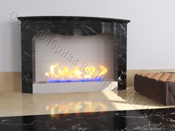 Напольный каминный портал (облицовка) для биокамина Эола, каталог (интернет-магазин) каминов, изображение, фото 5