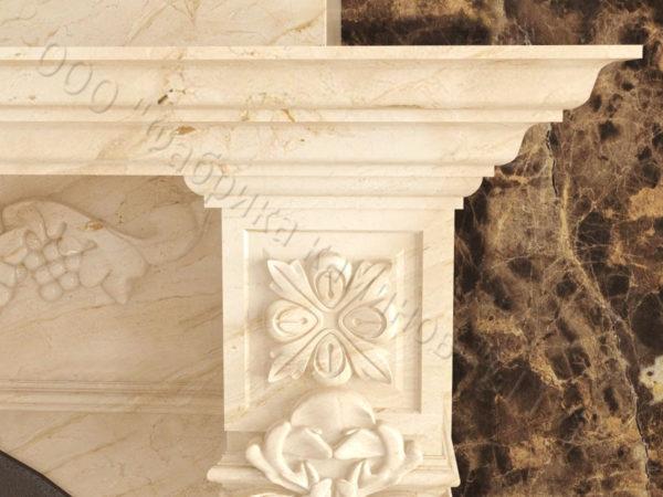 Мраморный камин с открытой топкой Эрос, каталог (интернет-магазин) каминов из мрамора, изображение, фото 4