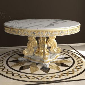 Стол из натурального камня (мрамора) Эвр, интернет-магазин столов, изображение, фото 1