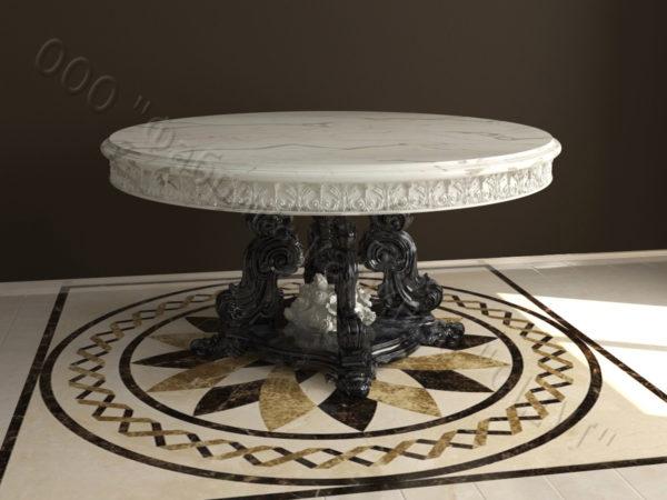 Стол из натурального камня (мрамора) Эвр, интернет-магазин столов, изображение, фото 2