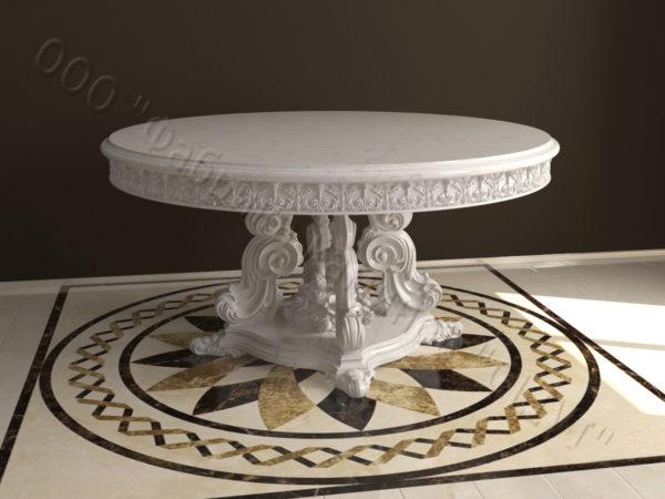 Стол из натурального камня (мрамора) Эвр, интернет-магазин столов, изображение, фото 3