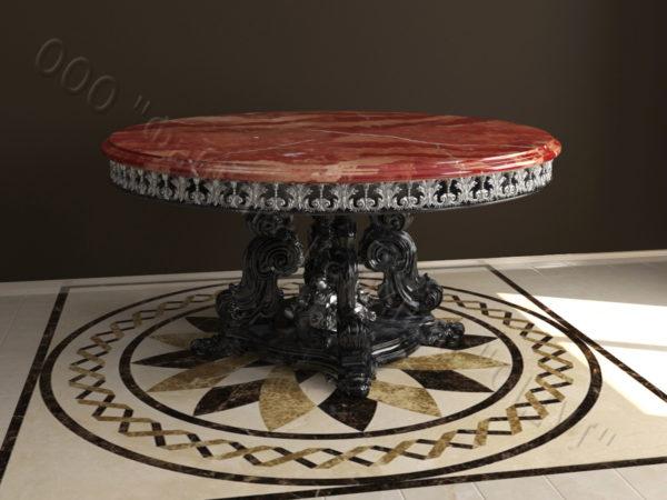 Стол из натурального камня (мрамора) Эвр, интернет-магазин столов, изображение, фото 4