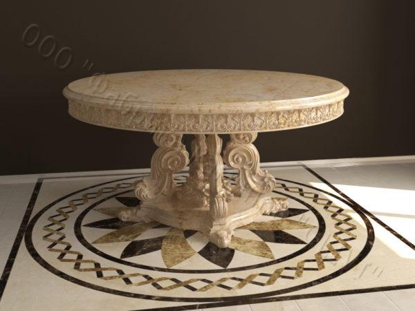 Стол из натурального камня (мрамора) Эвр, интернет-магазин столов, изображение, фото 5