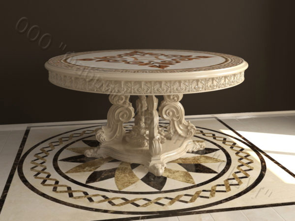 Стол из натурального камня (мрамора) Эвр, интернет-магазин столов, изображение, фото 6