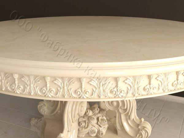 Стол из натурального камня (мрамора) Эвр, интернет-магазин столов, изображение, фото 7