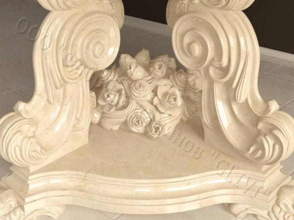 Стол из натурального камня (мрамора) Эвр, интернет-магазин столов, изображение, фото 8