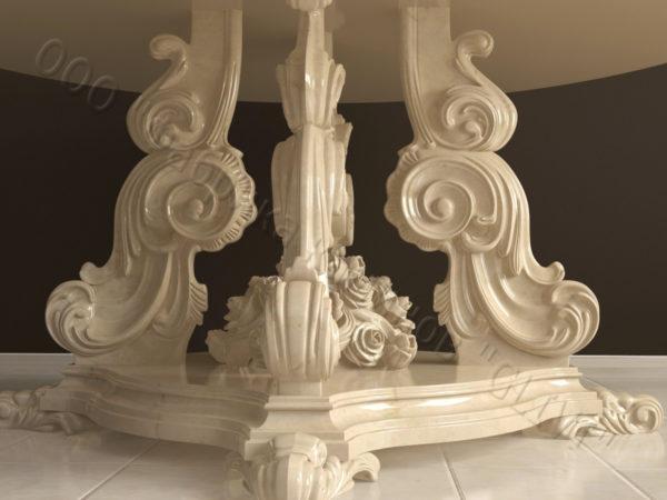 Стол из натурального камня (мрамора) Эвр, интернет-магазин столов, изображение, фото 9