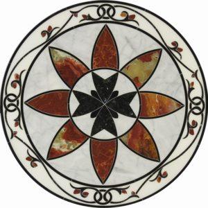 Мозаичный пол из натурального мрамора Эвринома, интернет-магазин полов, изображение, фото 1