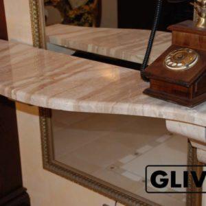 Столешница из натурального камня (мрамора) Эйрис, изготовить на заказ, изображение, фото 1