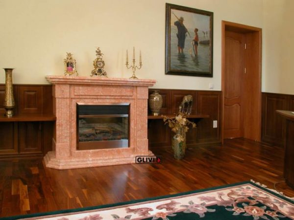 Мраморный каминный портал (облицовка) Фиеста, каталог (интернет-магазин) каминов из мрамора, изображение, фото 1