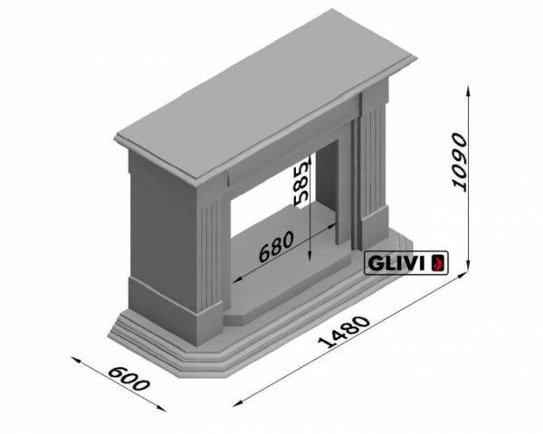 Мраморный каминный портал (облицовка) Фиеста, каталог (интернет-магазин) каминов из мрамора, изображение, фото 7
