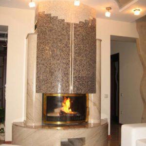 Мраморный каминный портал (облицовка) Фигаро, каталог (интернет-магазин) каминов из мрамора, изображение, фото 1