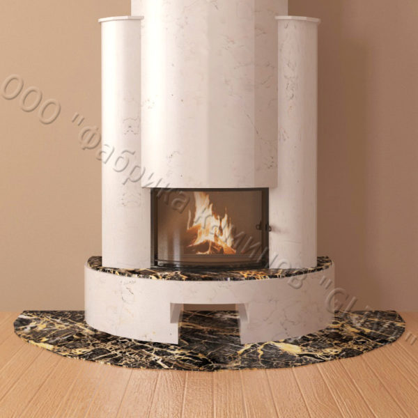 Мраморный каминный портал (облицовка) Фигаро, каталог (интернет-магазин) каминов из мрамора, изображение, фото 2