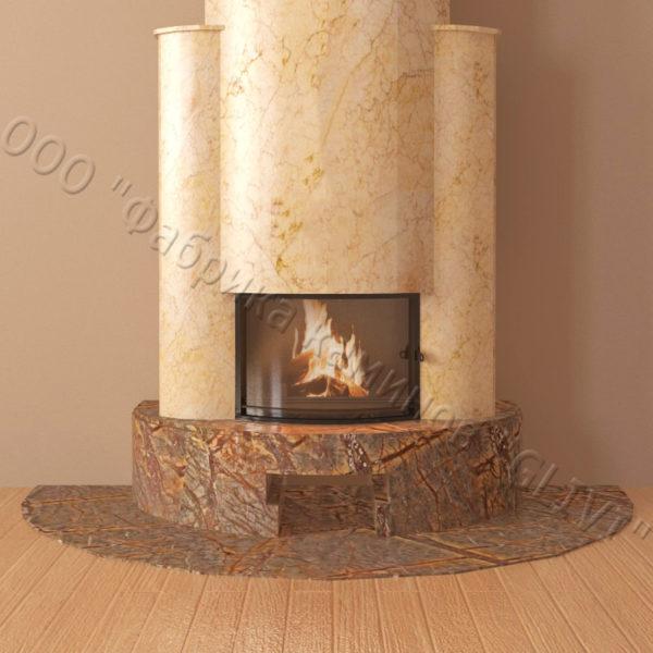 Мраморный каминный портал (облицовка) Фигаро, каталог (интернет-магазин) каминов из мрамора, изображение, фото 3