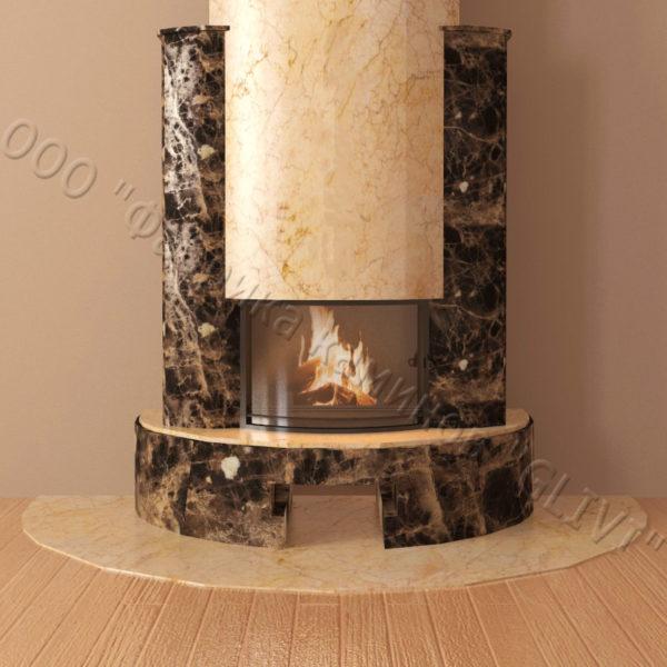 Мраморный каминный портал (облицовка) Фигаро, каталог (интернет-магазин) каминов из мрамора, изображение, фото 4