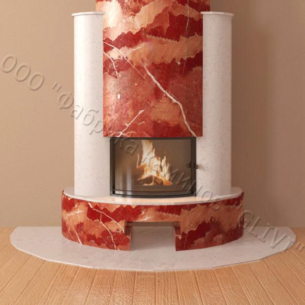 Мраморный каминный портал (облицовка) Фигаро, каталог (интернет-магазин) каминов из мрамора, изображение, фото 5