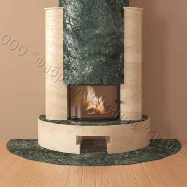 Мраморный каминный портал (облицовка) Фигаро, каталог (интернет-магазин) каминов из мрамора, изображение, фото 6