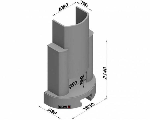 Мраморный каминный портал (облицовка) Фигаро, каталог (интернет-магазин) каминов из мрамора, изображение, фото 7