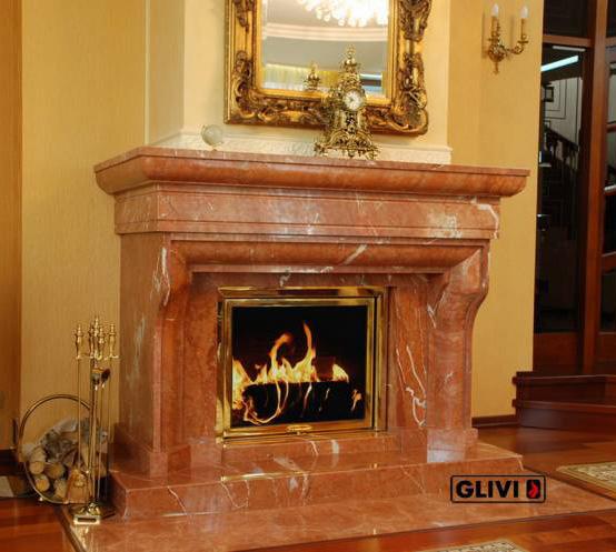 Мраморный каминный портал (облицовка) Филадельфия, каталог (интернет-магазин) каминов из мрамора, изображение, фото 1
