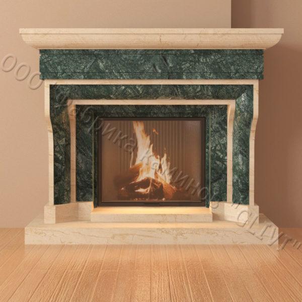 Мраморный каминный портал (облицовка) Филадельфия, каталог (интернет-магазин) каминов из мрамора, изображение, фото 2