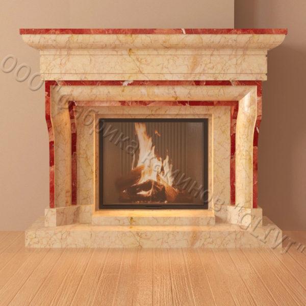 Мраморный каминный портал (облицовка) Филадельфия, каталог (интернет-магазин) каминов из мрамора, изображение, фото 3