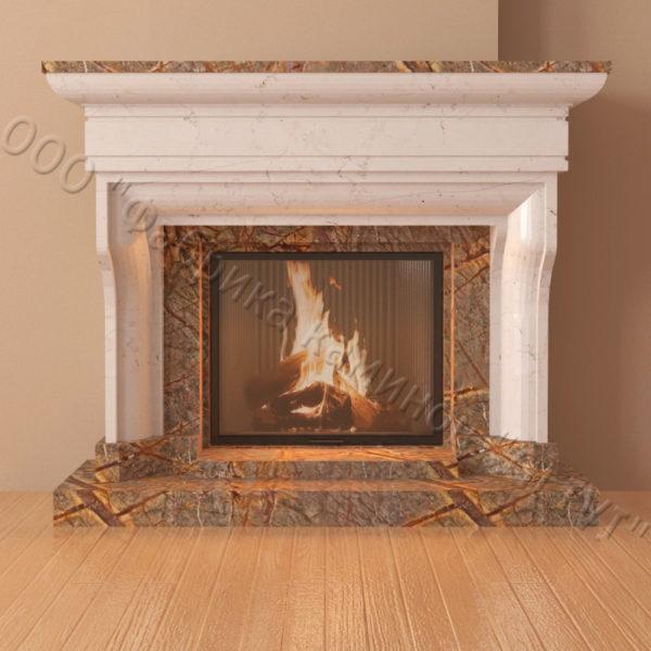 Мраморный каминный портал (облицовка) Филадельфия, каталог (интернет-магазин) каминов из мрамора, изображение, фото 4