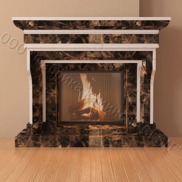 Мраморный каминный портал (облицовка) Филадельфия, каталог (интернет-магазин) каминов из мрамора, изображение, фото 5