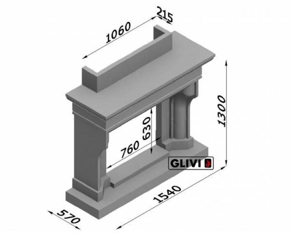Мраморный каминный портал (облицовка) Филадельфия, каталог (интернет-магазин) каминов из мрамора, изображение, фото 7