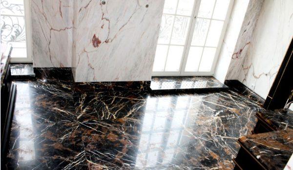 Мозаичный пол из натурального мрамора Филира, интернет-магазин полов, изображение, фото 1