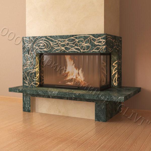 Мраморный каминный портал (облицовка) Флай, каталог (интернет-магазин) каминов из мрамора, изображение, фото 6